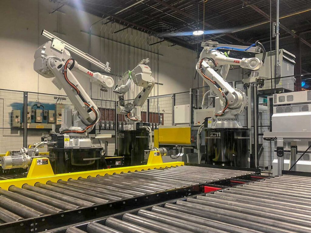 ABB Robot Cell Installation with Conveyors